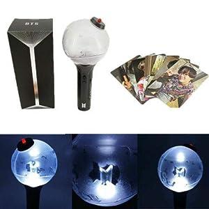 BTS Lightstick Ver.3 Bangtan Boys Bluetooth Concert Light Stick Army Bomb Battery Operated Concert Lamp (with Bluetooth, One Size) (Color: With Bluetooth, Tamaño: One size)