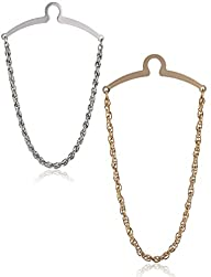 2 Pc Elite Tie Chain Set, Silver and…