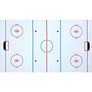 44'' Wide Sports Life Hockey Ice Rink Panel Ice Blue Fabric By The Panel