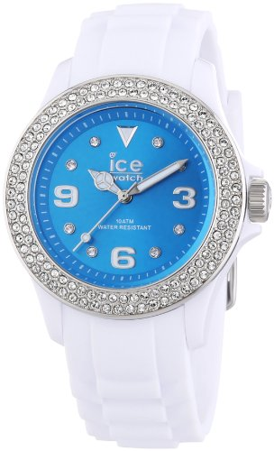 Ice-Watch Ite.St.Wte.U.S.12 Ladies Blue And White Ice-Star Silicone Watch
