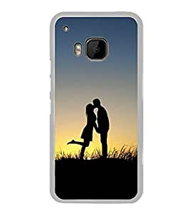 Love Couple 2D Hard Polycarbonate Designer Back Case Cover for HTC One M9 :: HTC One M9S :: HTC M9 :: HTC One Hima