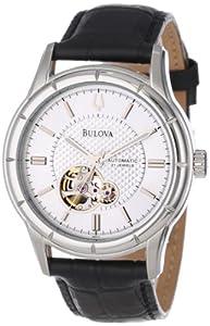 Bulova Men's 96A111 Automatic Strap Silver White Dial Watch by Bulova