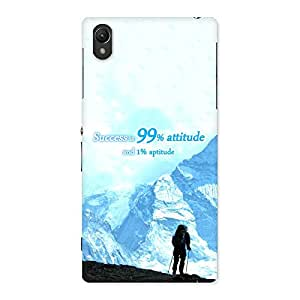 Gorgeous Attitude Success Back Case Cover for Sony Xperia Z1