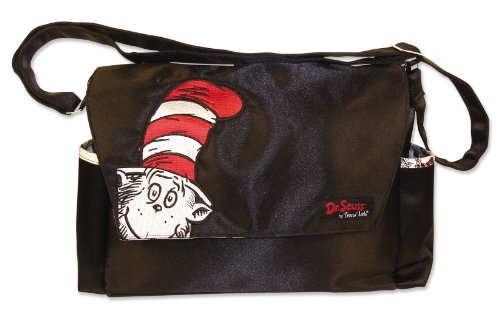 Trend Lab Dr Seuss Messenger Style Diaper Bag, Cat in The Hat