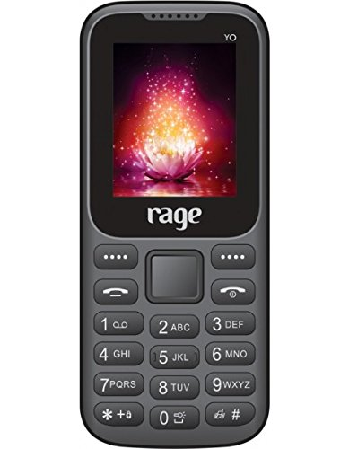 Rage Yo Dual Sim(GSM+GSm) Loudspeaker Mobile with Auto call Recorder Black(No Charger No Handsfree)
