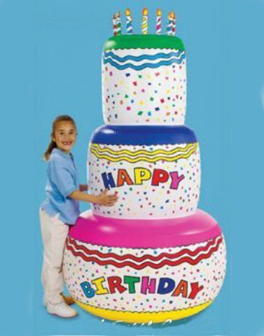 Jumbo Happy Birthday Inflatable Birthday Cake Party Decoration By Otc front-912296