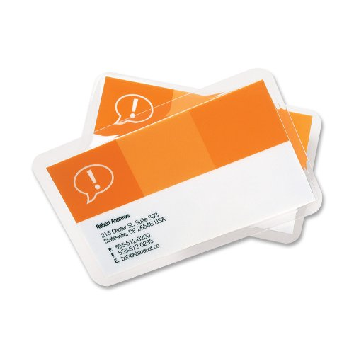 Gbc heatseal longlife laminating pouches business card for Business card size mm