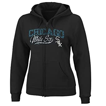 MLB Chicago White Sox The Beauty Long Sleeve Full Zip Fleece Hoodie Ladies by Majestic