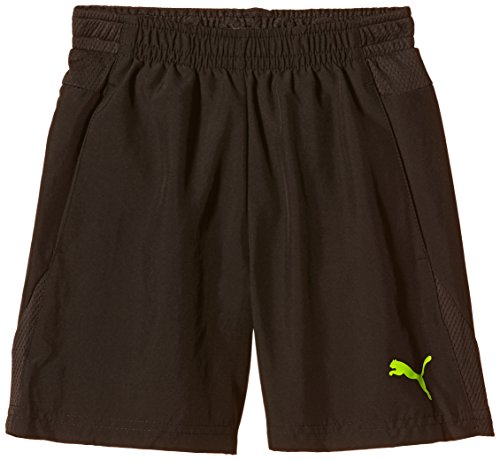 PUMA, Pantaloni corti Bambino It Evotrg, Nero (Black-Fluro Yellow), 152 cm