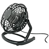 GreyMobiles Black USB Retro Desk Fan With MAINS ADAPTORby GreyMobiles