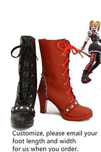 Batman Suicide Squad Harley Quinn Joker Cosplay Shoes Boots Customize b2