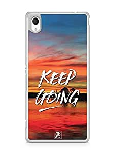 YuBingo Keep Going Designer Mobile Case Back Cover for Sony Xperia M4