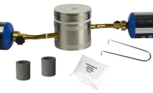 Basic Kwik Kiln Propane Set II Mini Gold Gas Furnace Melt Melts Gold Silver Copper 5-10 Mins (Metal Melting Furnace compare prices)