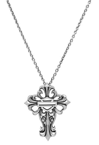 Harley-Davidson® MOD® Women's Filigree Cross Necklace HDN0256