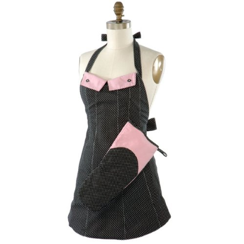 Mademoiselle Reversible Pink Apron Gift Set - Medium - Buy Mademoiselle Reversible Pink Apron Gift Set - Medium - Purchase Mademoiselle Reversible Pink Apron Gift Set - Medium (Kitsch'n Glam, Home & Garden, Categories, Kitchen & Dining, Kitchen & Table Linens)