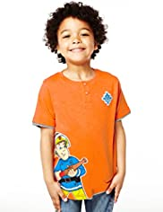 Pure Cotton Fireman Sam T-Shirt
