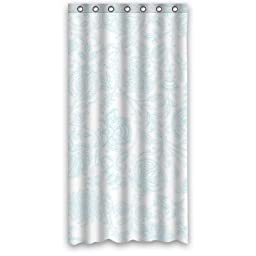 Light Blue Flower Patterns- Personalize Custom Bathroom Shower Curtain Waterproof Polyester Fabric 36(w)x72(h) Rings Included