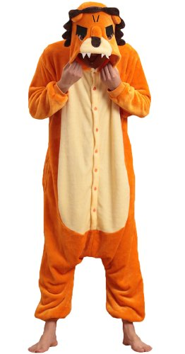 Orange Lioness Queen Kigurumi Costume