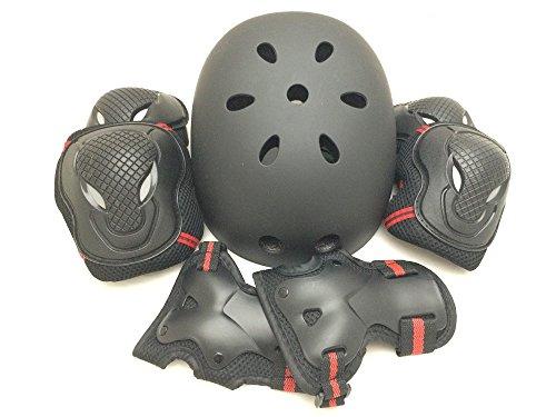 edunamay helmet - 0 - protector 3 points (wrist / knee / elbow) set skateboard sabage red (M)