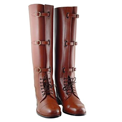 Stallion Men Field Boots HORSE RIDING SPORTS TAN All Sizes Available, Color:Tan Calf:Custom, 7