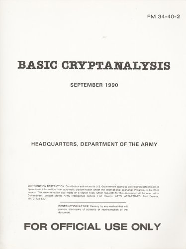 Basic Cryptanalysis