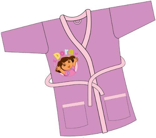 Girls Dora The Explorer Fleece Dressing Gown Bathrobe