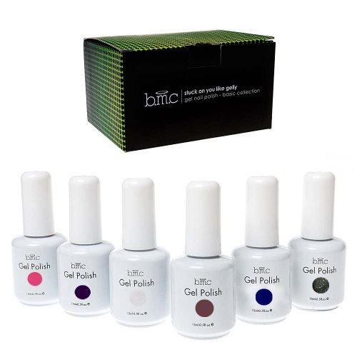 Bmc 6Pc Color Gel Nail Art Polish Uv Led Light Manicure Collection Set - Basics, Stuck On You Like Gelly Collection