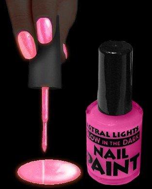 Glow In The Dark Nail Polish (Pink)