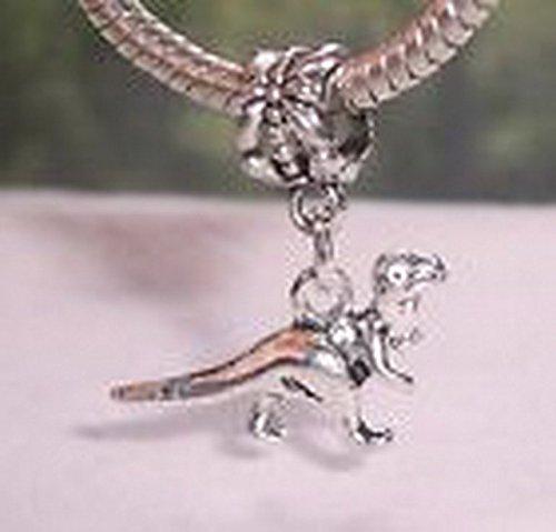 [Beads Hut - Dinosaur T Rex Tyrannosaurus Toy Dangle Bead for Silver European Charm Bracelets] (Making A T-rex Costume)