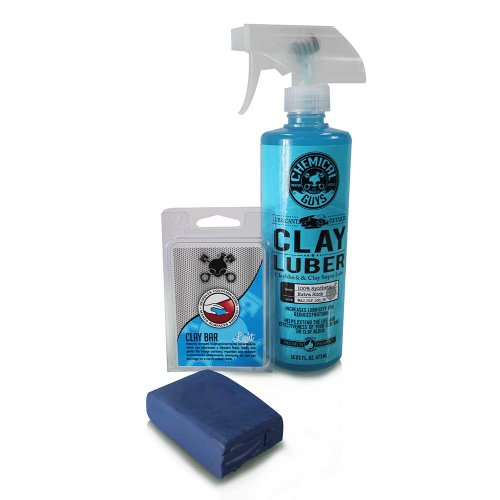 Chemical Guys Cly_109 - Clay Bar & Luber Synthetic Lubricant Kit, Light Duty front-526571