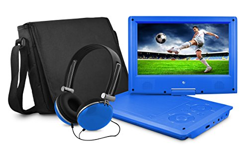 Ematic EPD909BU 9-Inch Portable DVD Player with Matching Hea