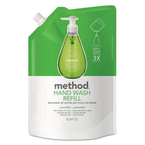method-products-00656-gel-hand-wash-refill-34-oz-cucumber-scent-plastic-pouch-by-method
