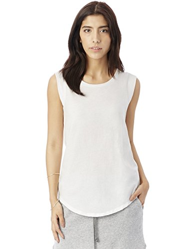 Alternative Women's Cap Sleeve Crew, White, Small (Cap Sleeve T Shirts compare prices)
