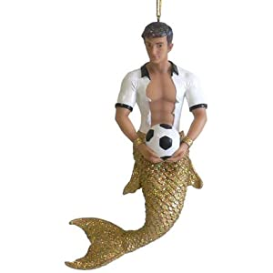 December Diamonds Goalie Soccer Merman Ornament ,Amazing Chest &Abs!!!Looks like Eli Manning(to us)!