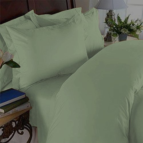 Elegant Comfort ® 1500 Thread Count Egyptian Quality Wrinkle & Fade Resistant 2Pc Duvet Cover Set, Solid, Twin/Twin Xl, Green front-1064884