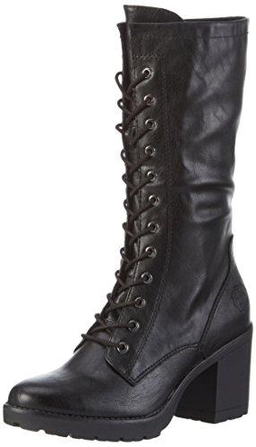 Marco Tozzi 25235, Stivali Combat Donna, Nero (Black Antic 002), 39 EU