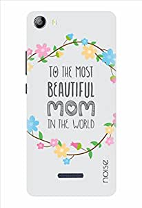 Noise Beautiful Mom-Floral Printed Cover for Micromax Canvas 5 E481