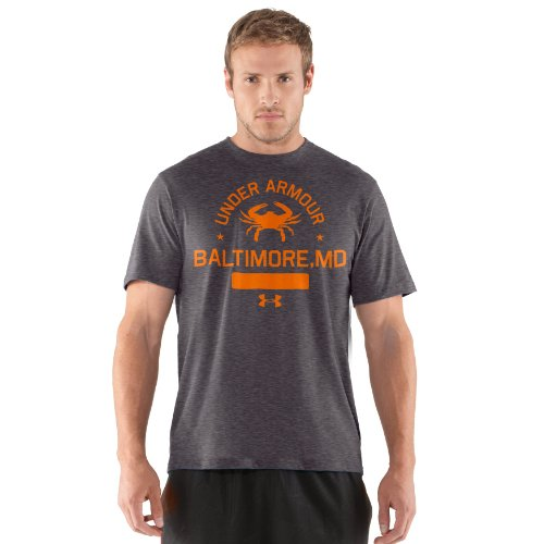 Men's UA Crabs T-Shirt Tops by Under Armour Large Carbon Heather