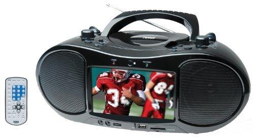 7 Inch Naxa NDL-254 AC/DC Digital TV Portable DVD Player with AM/FM Stereo Radio & USB/SD/MMC Inputs