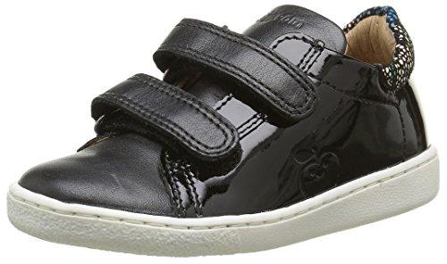 ShoopomDucky Velcro - Sneaker Bambina , Nero (Noir(Vernis Pn Floweblack Multi)), 24