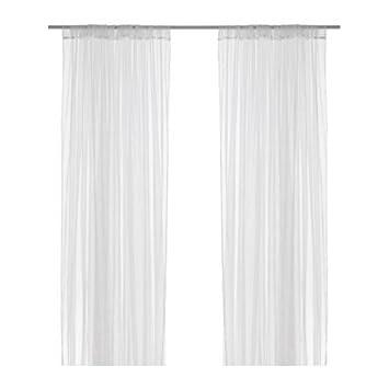 Ikea cortinas bufanda quot lill quot juego de 2 for Barra cortina ikea