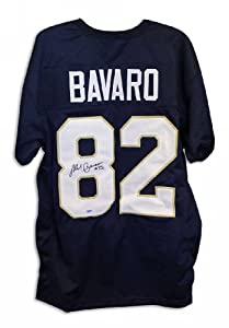 Mark Bavaro Notre Dame Fighting Irish Autographed Navy Blue Throwback Jersey by Athletic+Promotional+Events+Inc.