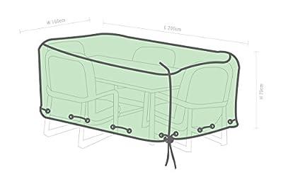 GardenMate® Schutzhülle für Gartenmöbel - 200x160x70cm - Premiumqualität aus 120gsm PE Gewebe von GardenMate® - Gartenmöbel von Du und Dein Garten