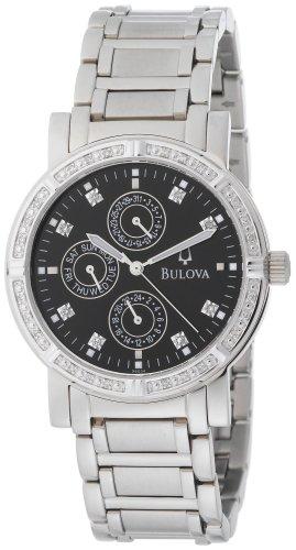Bulova Men's 96E04 Diamond Multifunction Watch