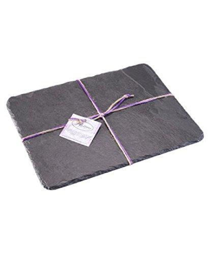 Platos individuales Slate 30 x 23 cm mantel individual Rectangular/plato/tabla de cortar queso, negro