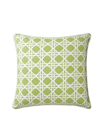 Company C Rattan Pillow, Lime