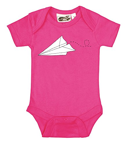 Paper Plane Hot Pink One Piece (3-6 Months) front-1034515