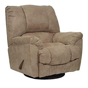 Goliath Swivel Glider Chaise Recliner Fabric: Chocolate