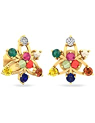 WearYourShine By PC Jeweller The Mettalise 18 K Gold And Diamond Stud Earrings