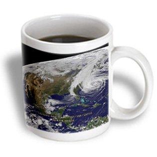 3Drose Hurricane Sandy Nasa Earth Observatory Ceramic Mug, 11-Ounce